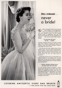 Listerine ad - bridesmaid